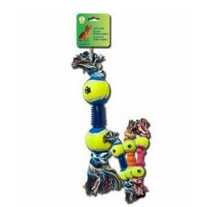 Ball & Rope Dog Toys